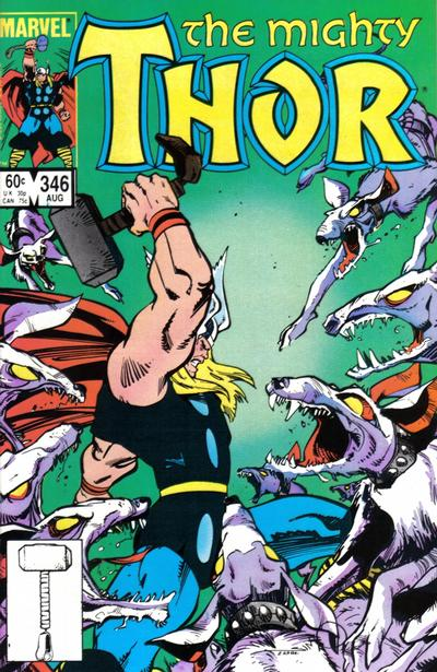 Cover for Thor (Marvel, 1966 series) #346 [Direct Edition]