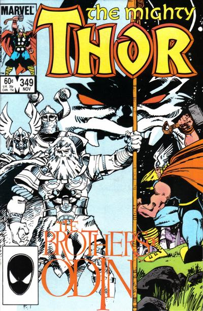 Cover for Thor (Marvel, 1966 series) #349 [Canadian Price Variant]