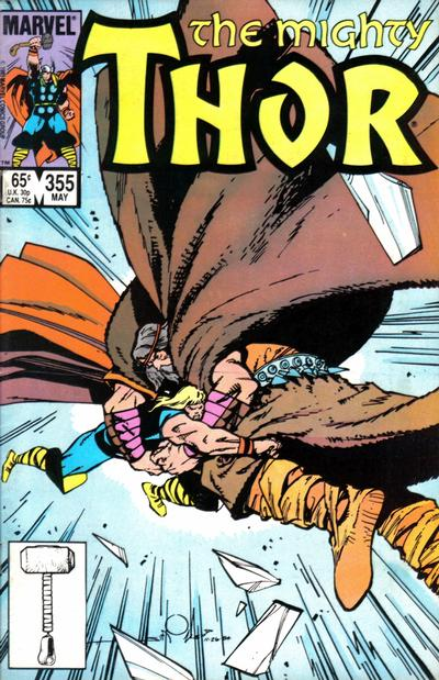 Cover for Thor (Marvel, 1966 series) #355 [Direct]