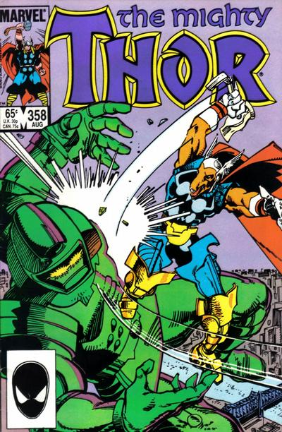 Cover for Thor (Marvel, 1966 series) #358