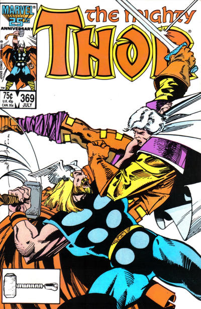 Cover for Thor (Marvel, 1966 series) #369 [Newsstand]