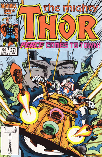 Cover for Thor (Marvel, 1966 series) #371 [Direct Edition]