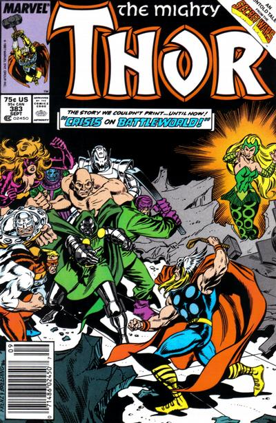 Cover for Thor (Marvel, 1966 series) #383 [Direct Edition]