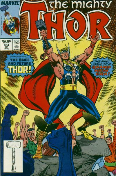 Cover for Thor (Marvel, 1966 series) #384 [Newsstand Edition]