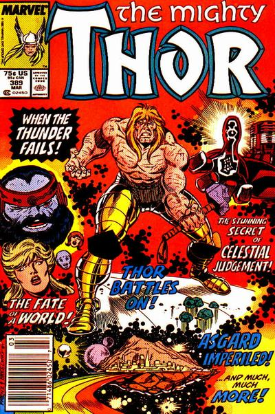 Cover for Thor (Marvel, 1966 series) #389