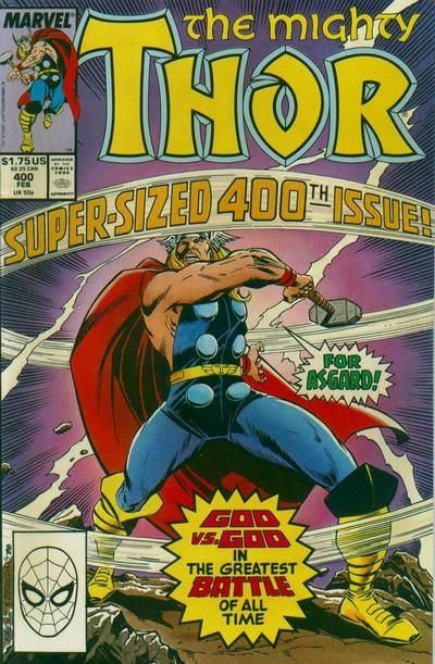 Cover for Thor (Marvel, 1966 series) #400 [Newsstand Edition]