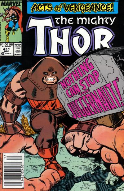Cover for Thor (Marvel, 1966 series) #411 [Direct Edition]