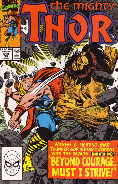 Cover for Thor (Marvel, 1966 series) #414