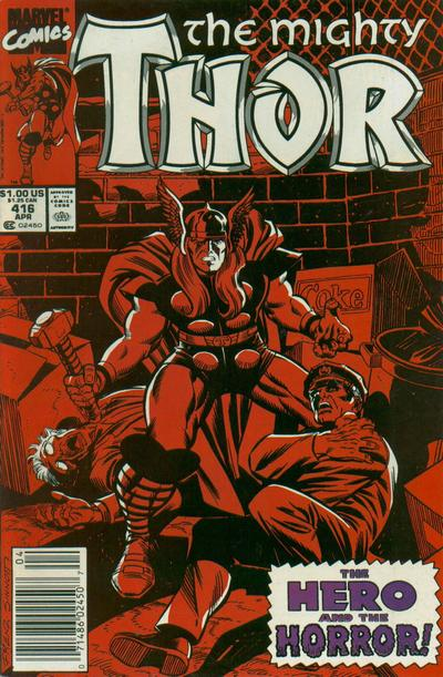 Cover for Thor (Marvel, 1966 series) #416 [Direct]