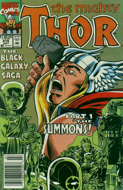 Cover for Thor (Marvel, 1966 series) #419 [Newsstand]
