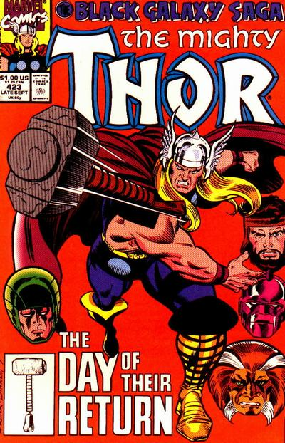 Cover for Thor (Marvel, 1966 series) #423 [Direct Edition]