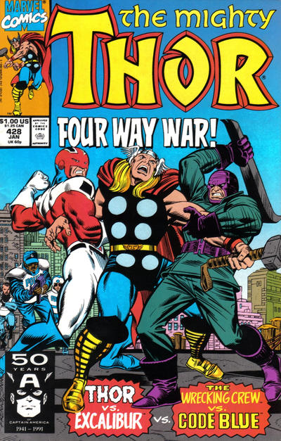 Cover for Thor (Marvel, 1966 series) #428 [Direct Edition]