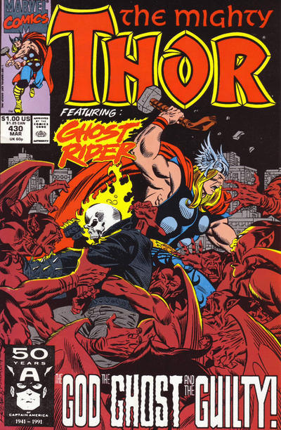 Cover for Thor (Marvel, 1966 series) #430 [Newsstand]
