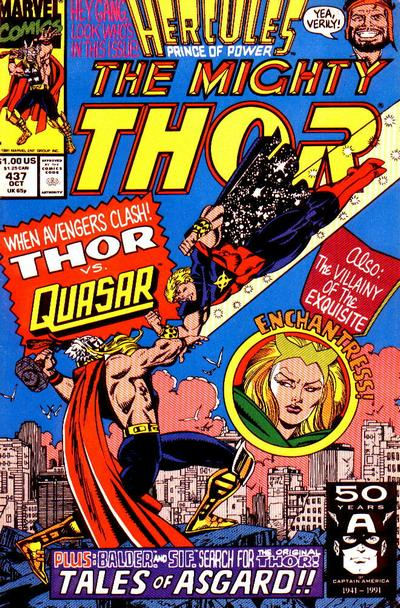 Cover for Thor (Marvel, 1966 series) #437 [Direct]