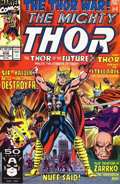 Cover for Thor (Marvel, 1966 series) #438 [Direct Edition]