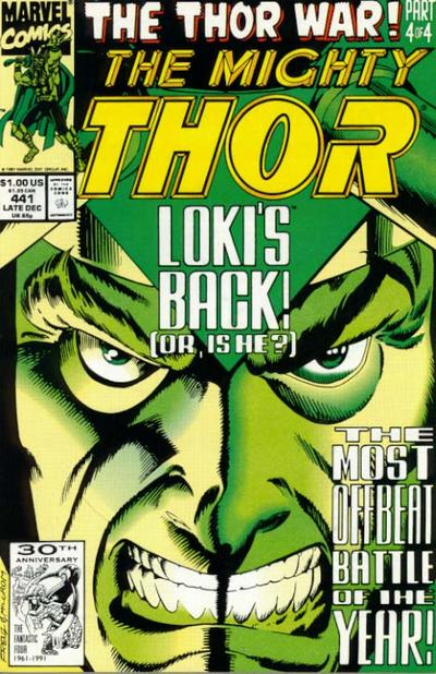 Cover for Thor (Marvel, 1966 series) #441 [Newsstand Edition]
