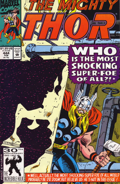 Cover for Thor (Marvel, 1966 series) #444 [Direct Edition]