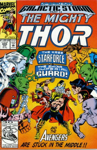 Cover for Thor (Marvel, 1966 series) #446 [Direct Edition]
