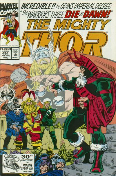 Cover for Thor (Marvel, 1966 series) #454 [Newsstand Edition]