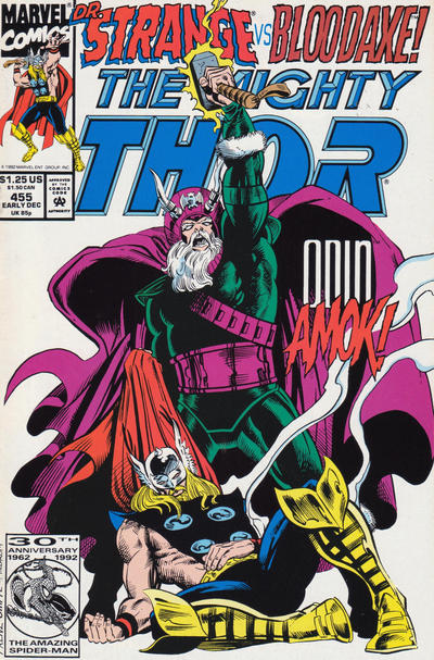 Cover for Thor (Marvel, 1966 series) #455