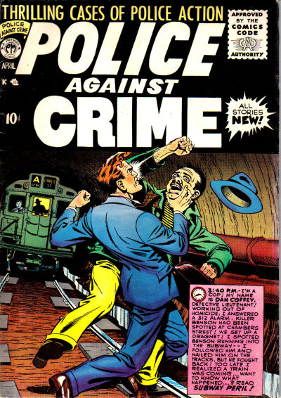 Cover for Police Against Crime (Premier Magazines, 1954 series) #7