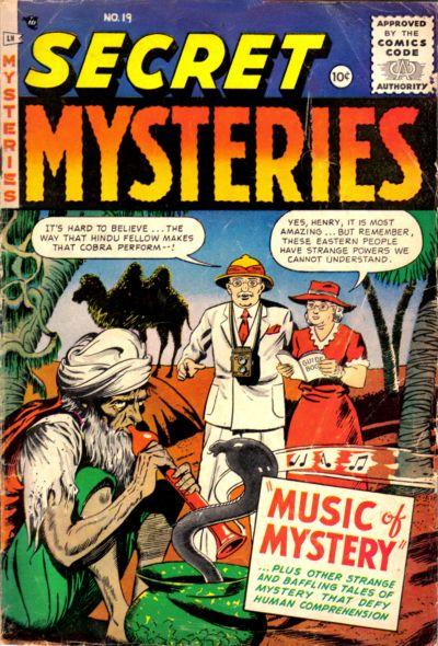 Cover for Secret Mysteries (Merit, 1954 series) #19