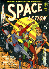 Cover Thumbnail for Space Action (Ace Magazines, 1952 series) #1