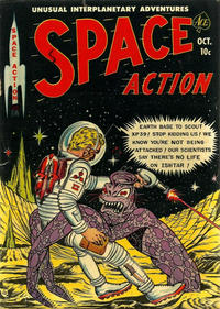 Cover Thumbnail for Space Action (Ace Magazines, 1952 series) #3