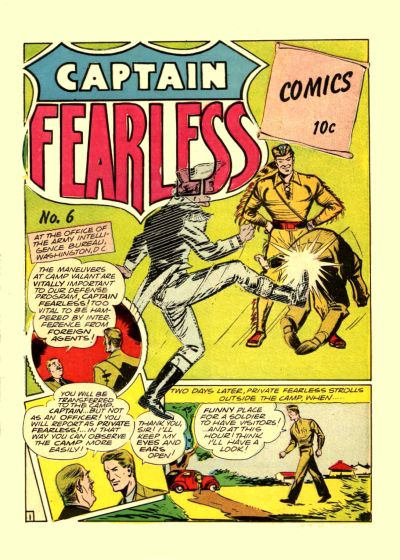 Cover for Captain Fearless Comics (Holyoke, 1944 series) #6
