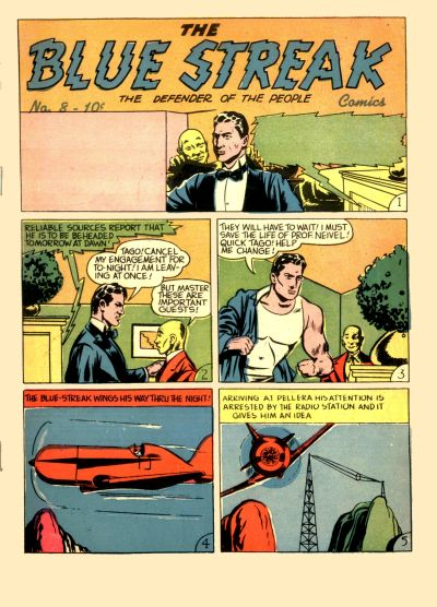 Cover for The Blue Streak Comics (Holyoke, 1944 series) #8