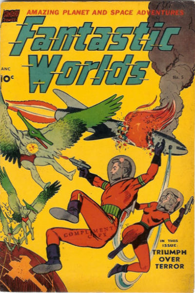 Cover for Fantastic Worlds (Pines, 1952 series) #5