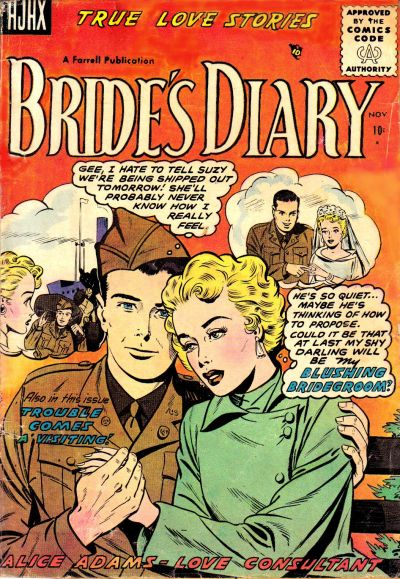 Cover for Bride's Diary (Farrell, 1955 series) #7
