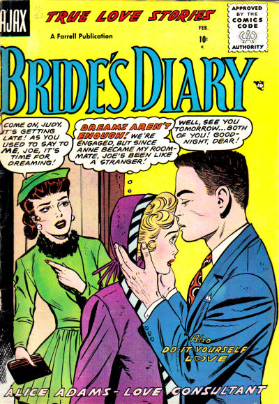 Cover for Bride's Diary (Farrell, 1955 series) #8