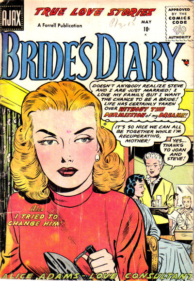 Cover for Bride's Diary (Farrell, 1955 series) #9