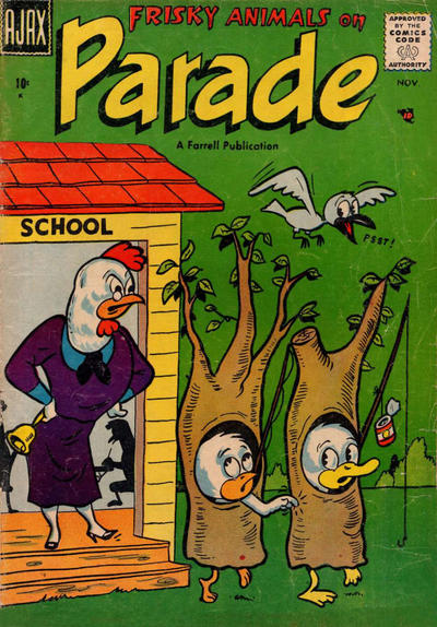 Cover for Frisky Animals on Parade (Farrell, 1957 series) #2