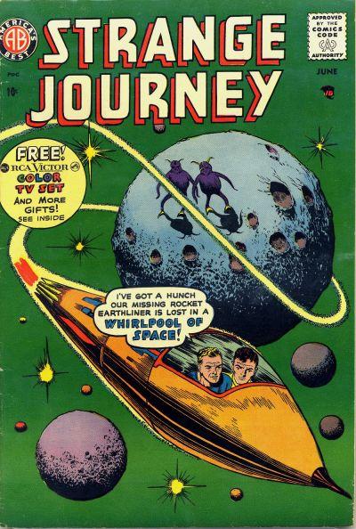 Cover for Strange Journey (Farrell, 1957 series) #4