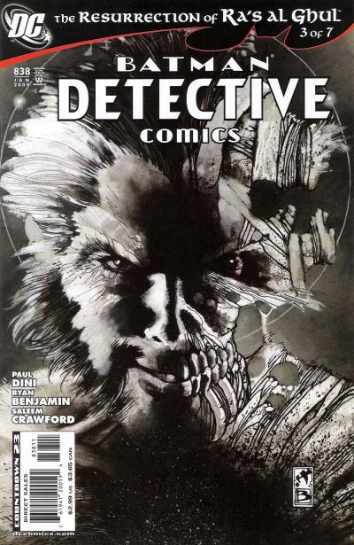 Cover for Detective Comics (DC, 1937 series) #838 [2nd Print]