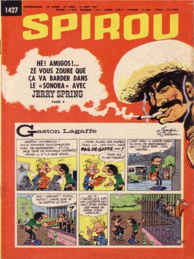 Cover for Spirou (Dupuis, 1947 series) #1427