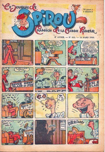 Cover for Le Journal de Spirou (Dupuis, 1938 series) #413