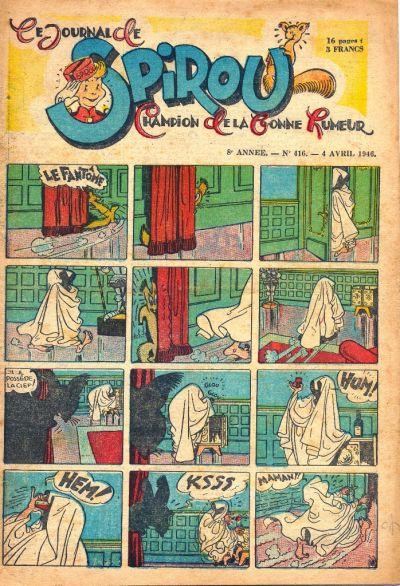 Cover for Le Journal de Spirou (Dupuis, 1938 series) #416