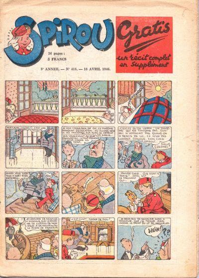 Cover for Le Journal de Spirou (Dupuis, 1938 series) #418