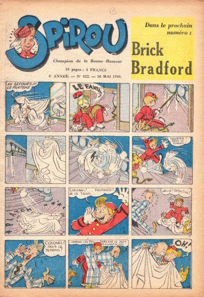 Cover for Le Journal de Spirou (Dupuis, 1938 series) #422