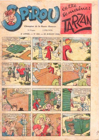 Cover for Le Journal de Spirou (Dupuis, 1938 series) #432