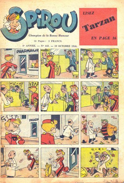 Cover for Le Journal de Spirou (Dupuis, 1938 series) #443