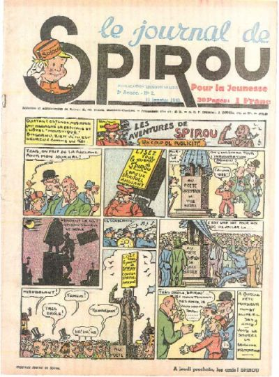 Cover for Le Journal de Spirou (Dupuis, 1938 series) #2/1940