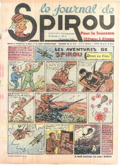 Cover for Le Journal de Spirou (Dupuis, 1938 series) #4/1940