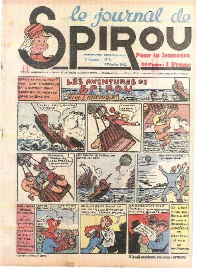 Cover for Le Journal de Spirou (Dupuis, 1938 series) #6/1940