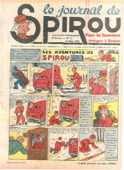 Cover for Le Journal de Spirou (Dupuis, 1938 series) #11/1940