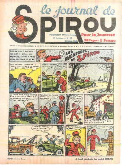 Cover for Le Journal de Spirou (Dupuis, 1938 series) #12/1940