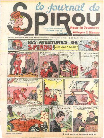 Cover for Le Journal de Spirou (Dupuis, 1938 series) #14/1940